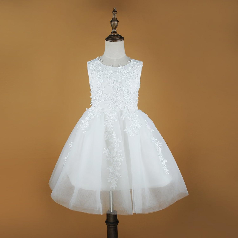 Amazon Girls Princess Flower Lace Dress Wedding Party White
