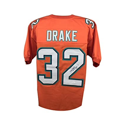 info for 22aa3 34a6a Kenyan Drake Autographed Miami Dolphins Custom Orange ...