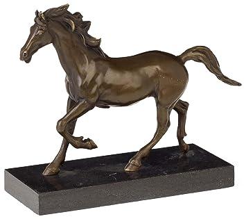 Bronzeskulptur Pferd im Antik-Stil Bronze Figur Statue 49cm