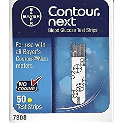 Bayer Contour Next Test Strips - Pack of 4 = 200 Strips