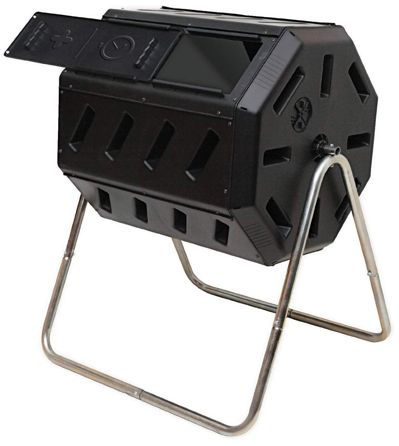 FCMP Outdoor IM4000 Tumbling Composter, 37 Gallon, Black Renewed