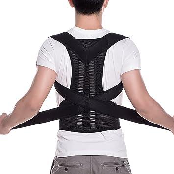 433c3c344ca FITTOO Adjustable Neoprene Posture Corrector Back Shoulder Lumbar Waist Support  Belt for Men and Women -