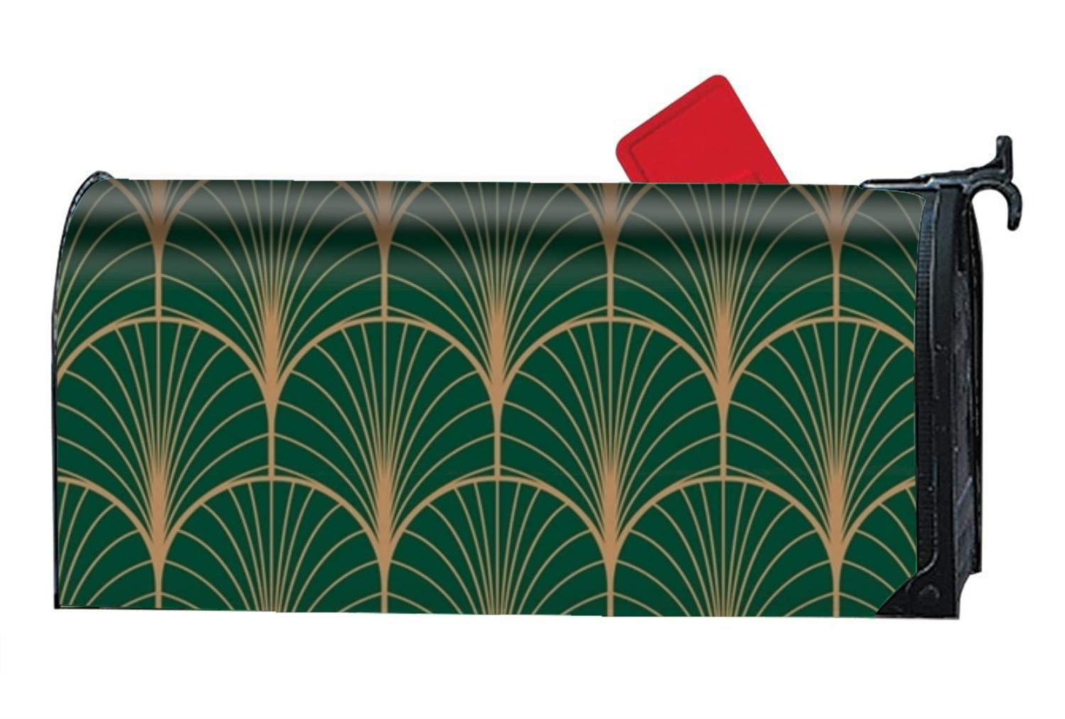 FANMIL Seasonal Mailbox Covers Art Deco Geometric Mail Box Cover for Spring,Summer,Fall/Autumn and Winter