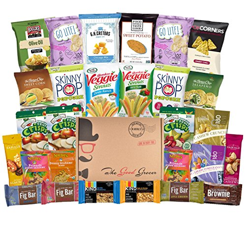Non GMO and Natural Healthy Snacks Care Package (28 Count)