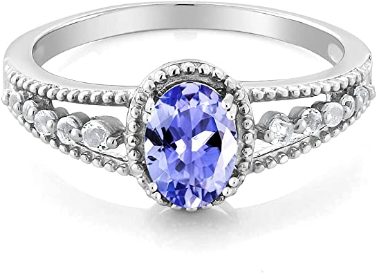 Sale low price Natural Tanzanite 925 Sterling silver ringEngagement ring.