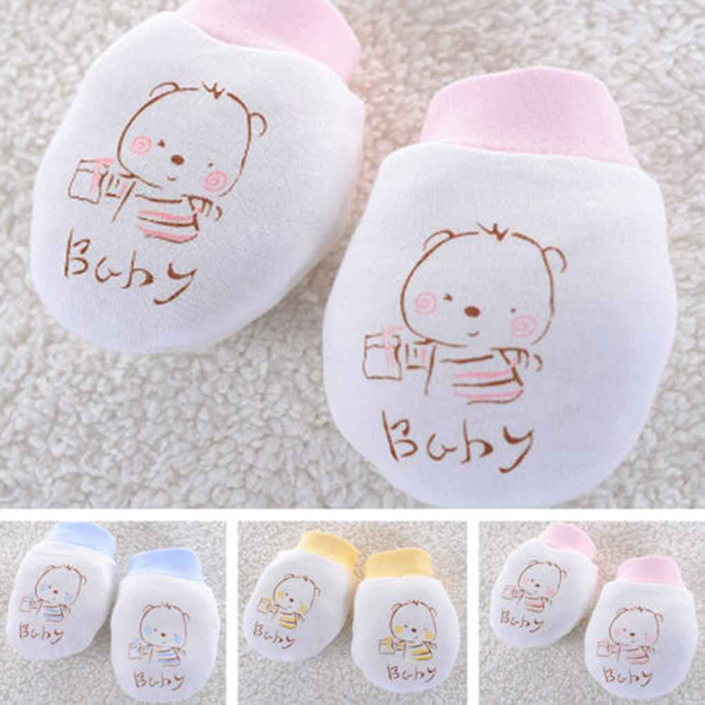 Aiming Baby Newborn Anti Scratch F/äustlinge atmungsaktiv Handschuhe Unisex Warm Baumwoll-Handschuhe