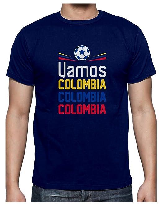 Green Turtle T-Shirts Camiseta para Hombre - Vamos Colombia! Apoya a la Selección Colombia en el Mundial!: Amazon.es: Ropa y accesorios