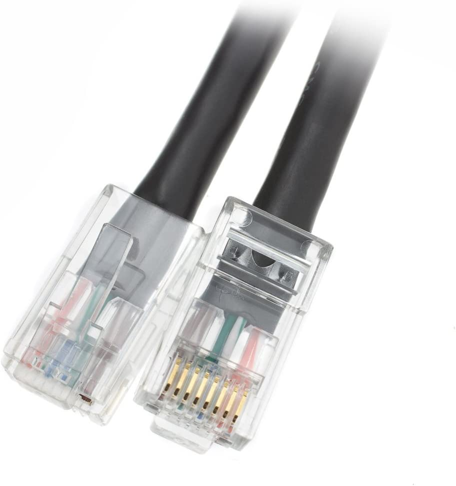 Bootless Cat6 Gray Ethernet Patch Cable by Konnekta Cable 25 Foot Pack of 10
