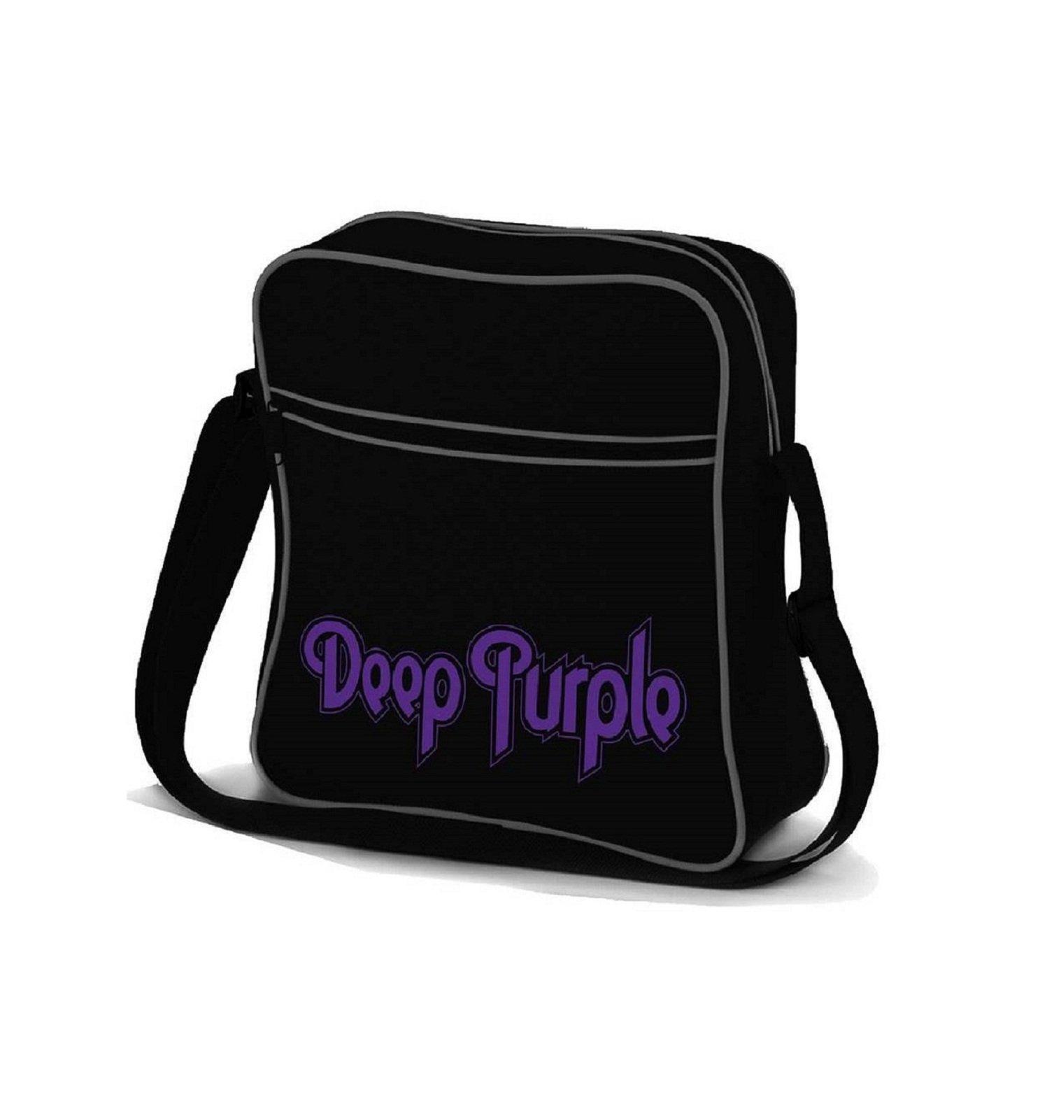 Deep Purple Logo new Official Black flight Bag