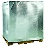 Ship Now Supply SNINC4840 Cool Shield Bubble Pallet Cover, 48''L x 40''W x 48''H, Silver (Pack of 5)