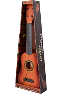Toyshine 4 String Acoustic Guitar Learning Kids Toy Brown 18
