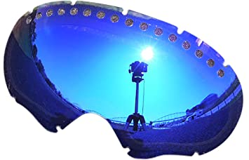 zero replacement lenses for oakley a frame snow goggle blue mirror