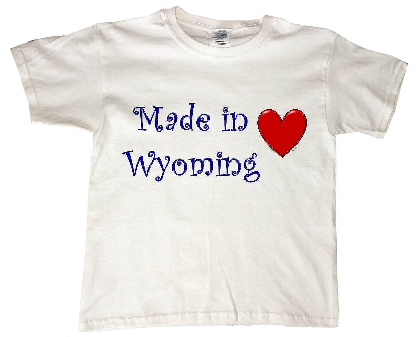 MADE IN WYOMING - BigBoyMusic Youth Designs - White T-shirt