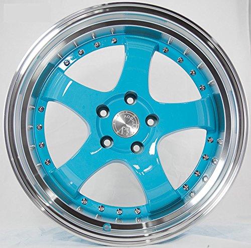Aodhan Wheels AH03: 15x8, 4x100, 73.1, 20, (TIFFANY BLUE MACHINED LIP)