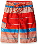 Kanu Surf Boys' Little Quick Dry UPF 50+ Beach Swim Trunk, Specter Orange, 5/6
