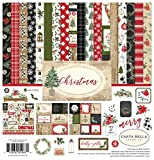 Carta Bella Paper Company CBCH89016 Christmas Collection Kit, red, Green, Black, tan