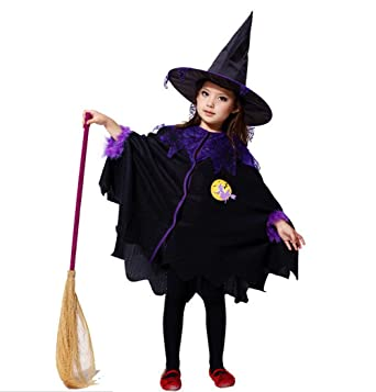 cc9fa6a0fa6 Amazon.com: Witch Costumes For Girls - Halloween Child Witch Party ...