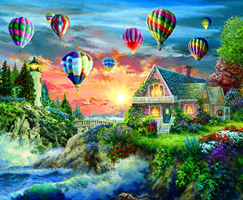 Balloons Over Sunset 1000 Piece Jigsaw Puzzle by SunsOut
