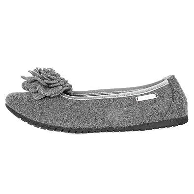 7ec9f6ff86f4 Giesswein Womens Slippers Grey (Schiefer 017) EU 37 - US M5.5