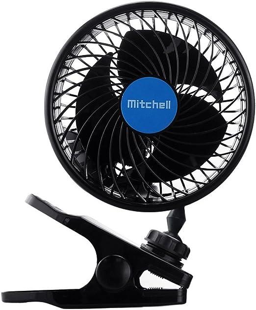 Intsun Ventilador Coche Doble 12 V 6 Inch Eléctrico Coche Clip Ventilador de Refrigeración para Coche Automóvil Potente Silencioso Speedless Ventilación: Amazon.es: Coche y moto