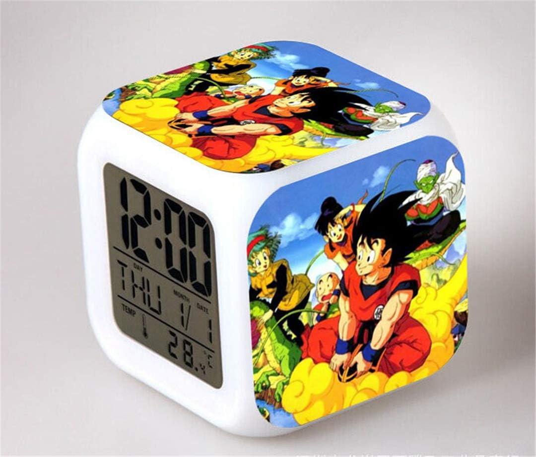 IFree Niños LED Digital Anime Despertador 7 Colores Luz de Noche Habitación Despertador Viaje Despierta Despertador Fans de Cine Despertador Regalo de cumpleaños para Muchachos Muchachas Adolescentes