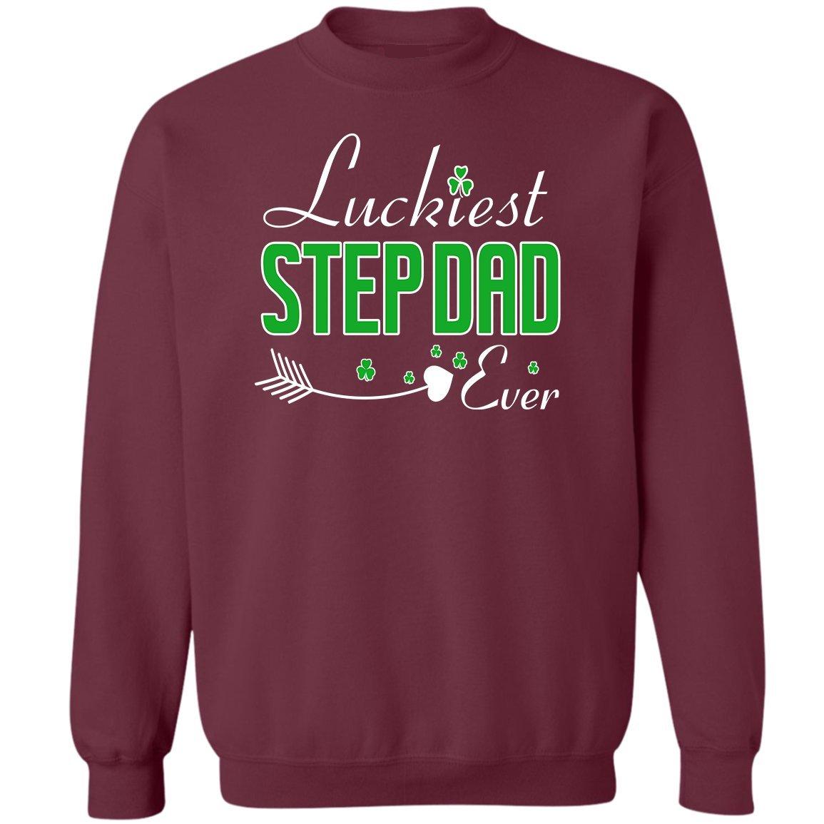 Love Stepdad Sweatshirt VADOBA Luckiest Step Dad Ever ST Patricks Day Tee Funny Gift