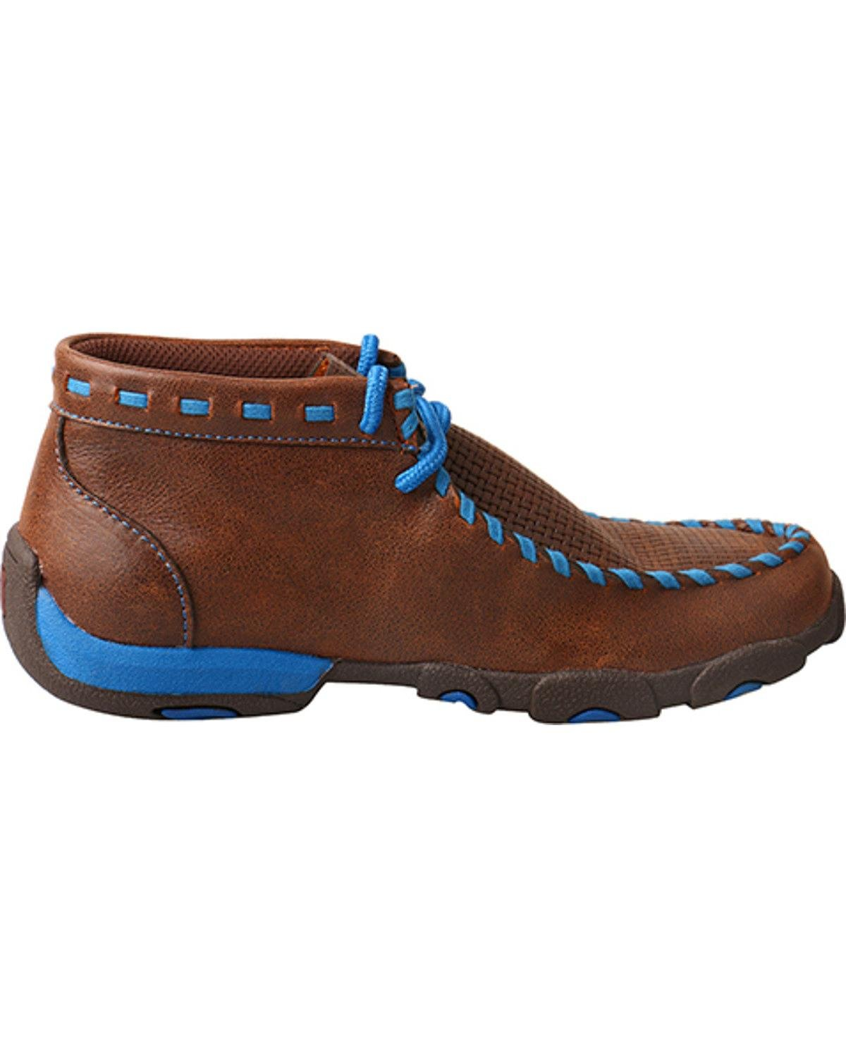 Twisted X Boys Blue Lace Driving Moccasin Boot Moc Toe TWISTED X BOOTS