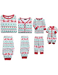 Reindeer Christmas Family Matching Clothes Long Sleeve and Pants Pajamas Set