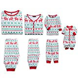 Best Christmas Family Pajamas - PopReal Reindeer Christmas Family Matching Clothes Long Sleeve Review