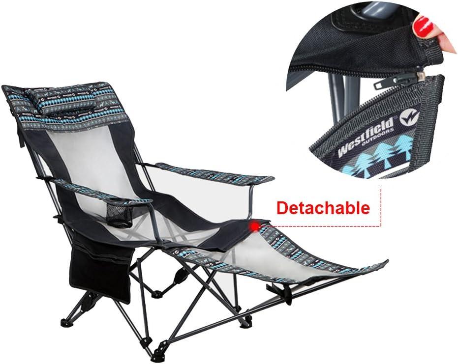 Abnehmbarer Beistelltisch und Tragetasche f/ür Outdoor Asteri Campingstuhl Tragbare Klappst/ühle mit Getr/änkehalter