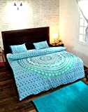 RAJRANG Indian Mandala Double Reversible Duvet Quilt Cover Teen Girl and Boy Bedding Ethnic Bohemian Throw with pillow covers
