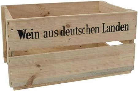 INNA-Glas Caja de vinos, Caja de Madera Greta, Color Natural, con inscripción, 45x32x24cm - Decoración Moderna - Caja Original: Amazon.es: Hogar