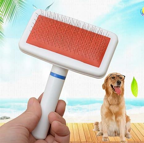 Cepillo para Perros Gatos Peine De Limpieza Masaje Mascotas con Pelo Corto Medio Largo Herramienta,