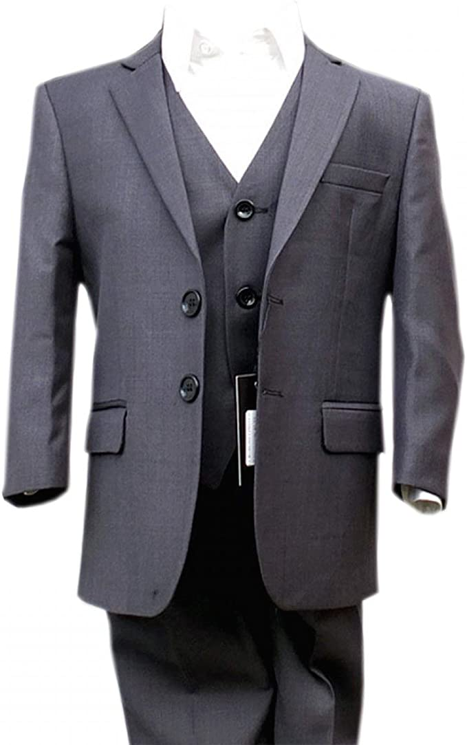 Sirri Jungen Holzkohle Grau Anzug Italienisch Schneiden Hochzeit Jungen Anzug Kinder Grau Kleider Im Anzuge Amazon De Bekleidung