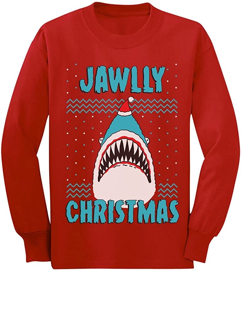 Jawlly Christmas Shark Ugly Christmas Toddler/Kids Long Sleeve T-Shirt GMPlhZhgC5