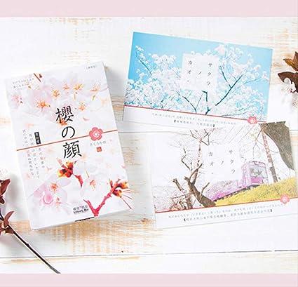 FANGDAHAI Papel de cartaNueva tarjeta postal de sakura ...
