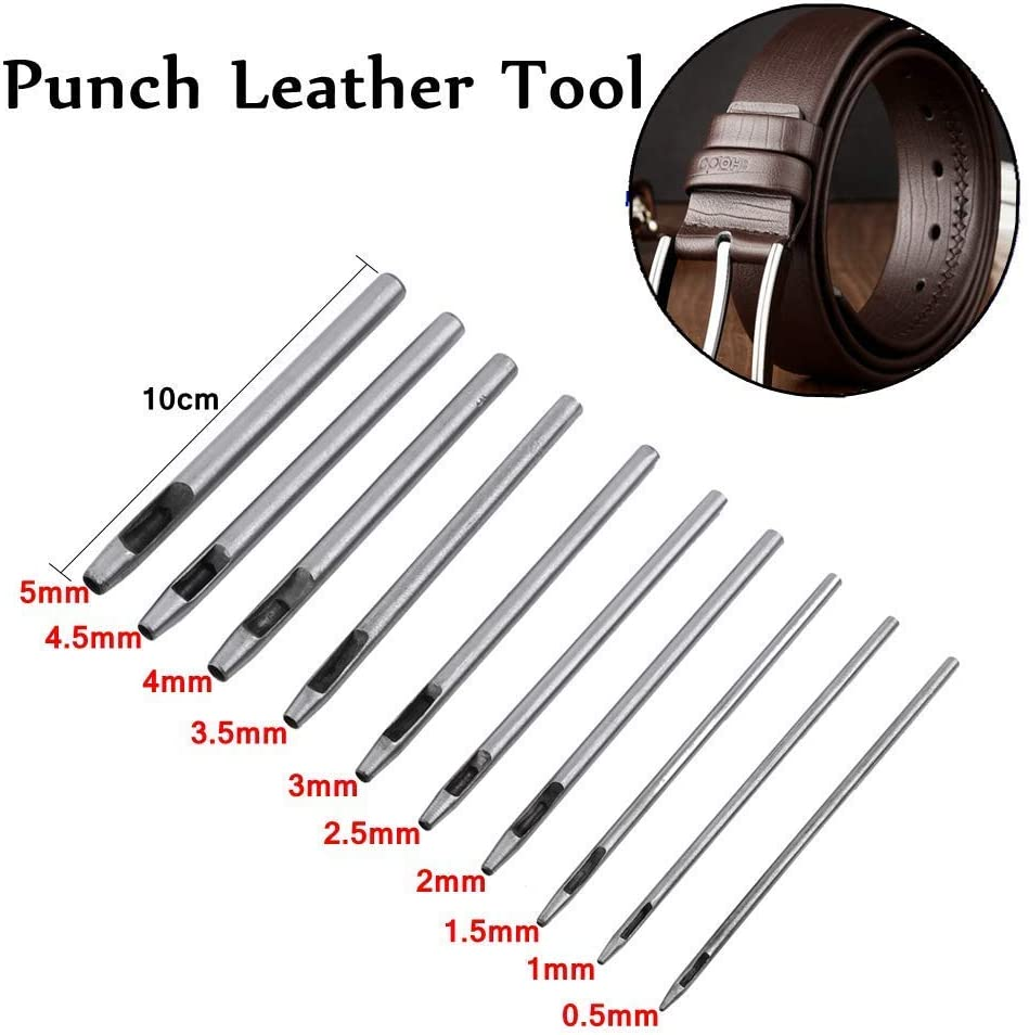 correa zapato 3 * 1 perforadora de cuero de acero al carbono Herramienta de perforaci/ón de cuero hueca cintur/ón perforadora rectangular para banda de reloj