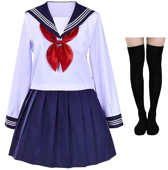 Amazon.com: Disfraz de marinero japonés para cosplay con ...
