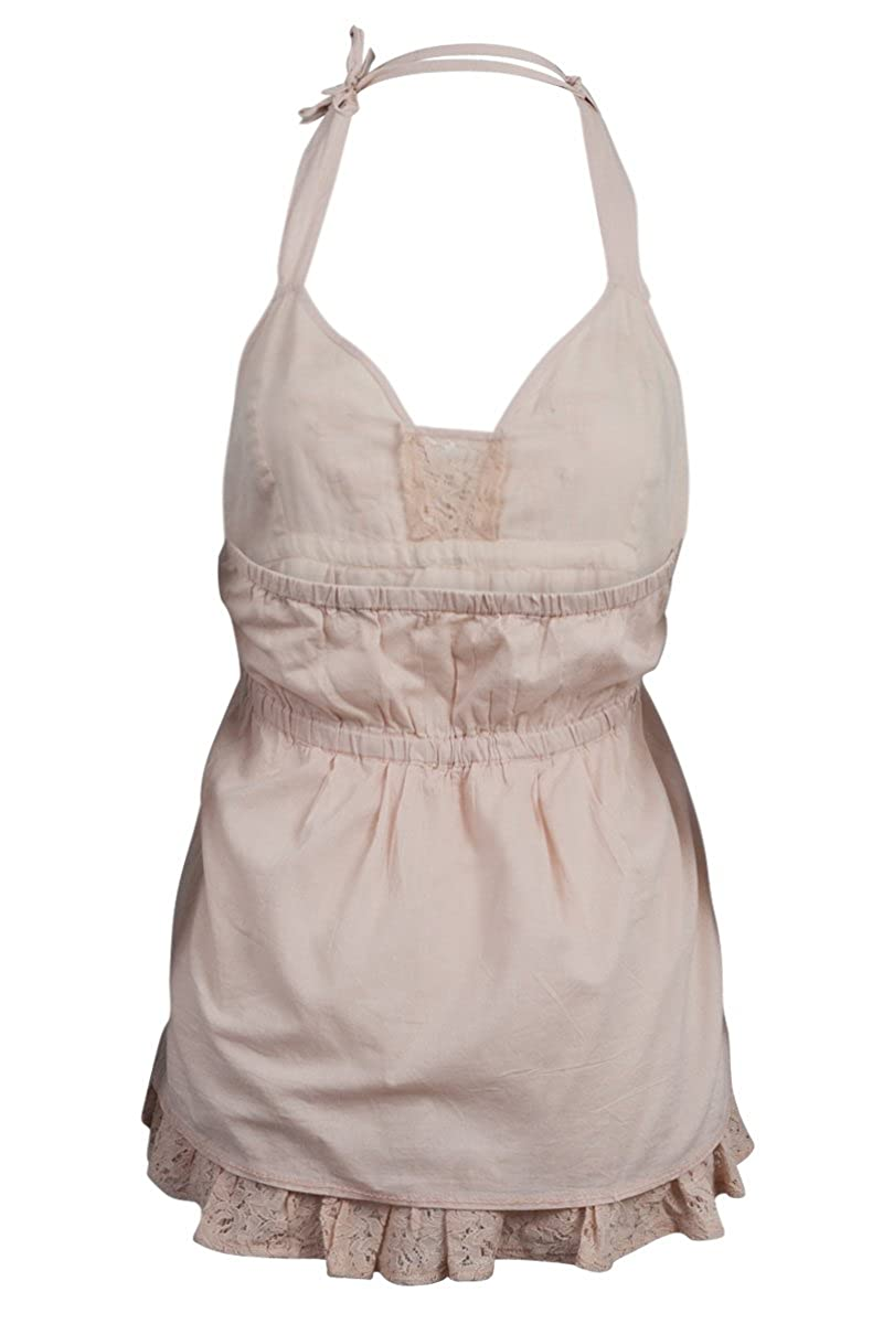 14619eb2b1bef Uttam Boutique New Womens Nude Cotton Halterneck Butterfly Ladies Top Size  16  Amazon.co.uk  Clothing