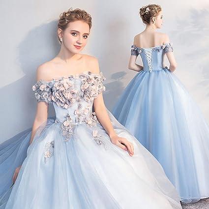 Amazon.com: WZCXYX Blue Wedding Dress