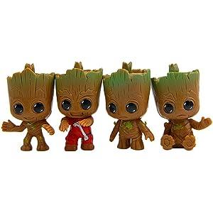 Baby Groot Llavero (Conjunto de 4) - Figura de acción de la ...