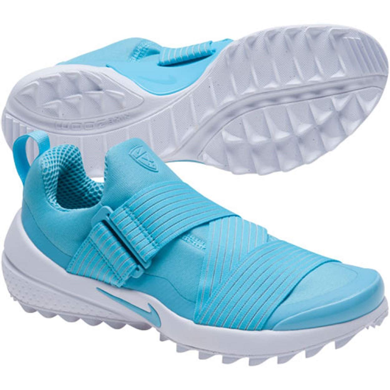 best sneakers 59d92 15532 Amazon.com  Nike Womens Air Zoom Gimme Spikeless Golf Shoes Vivid Sky  White Size 8  Golf