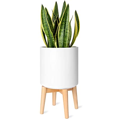Mkono Plant Stand Mid-Century Modern Plant Stand Indoor (Plant Pot NOT Included) Flower Pot Holder Home Decor, Natural : Garden & Outdoor