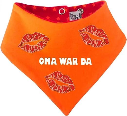 KLEINER FRATZ Baby Kinder Halstuch Sommer Stripes Oma war da//in 9 Designs//Gr/ö/ßen 0-36 Monate