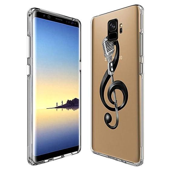 Amazon com: Microphone Music Samsung Galaxy S9 Case Clear