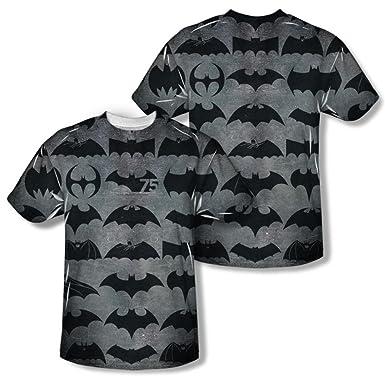 a3aa8beef Amazon.com: Batman - 75 Symbols (Front/Back Print) T-Shirt Size XXL ...
