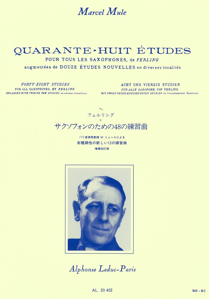 Quarante Huit Etudes (Forty Eight Studies) for All Saxophone By Ferling