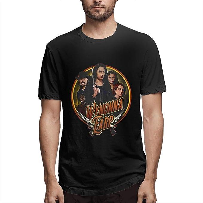Gorgasy Wynonna EARP Hombres Camiseta básica de algodón Suave básico Negro 4XL: Amazon.es: Ropa y accesorios
