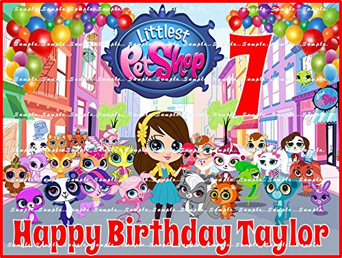 LITTLEST PET SHOP : Personalized edible image Birthday Cake topper premium frosting sheets ()