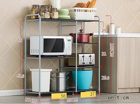 GRY Estante de la cocina Horno microondas Horno Rack Racks de ...